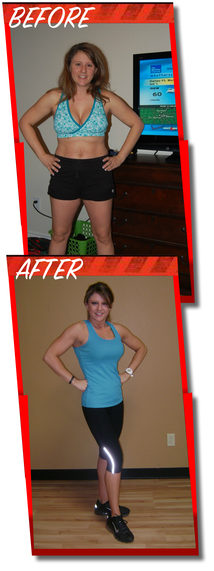 YPT Fitness - Before and After Bailee photos - Dallas Personal Trainer